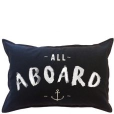 ourlieu all aboard cushion cover black 40 x 60