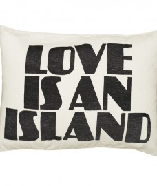 Kawaiian lion love is an island cushion