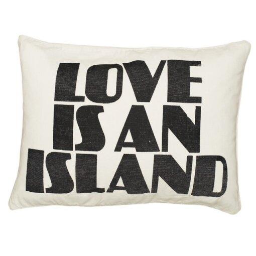 Kawaiian lion love is an island cushion