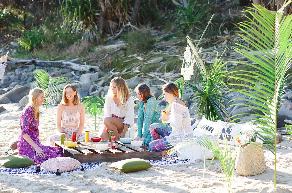 event styling brightside of paradise promo