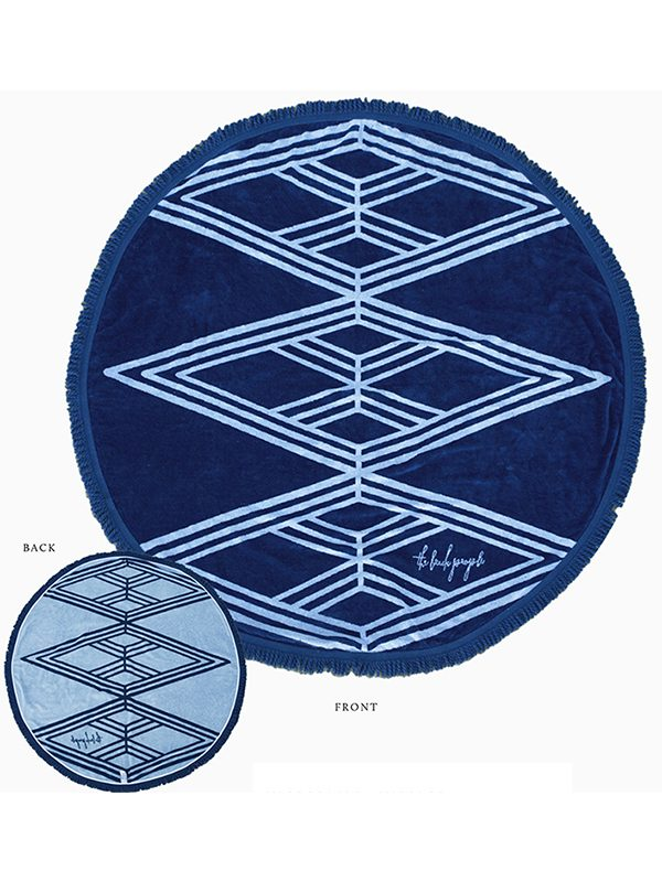 beach people santorini roundie towel