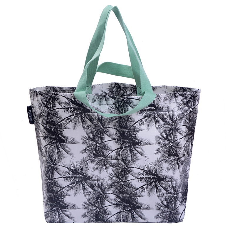 kollab bags neverful palms poly tote bag