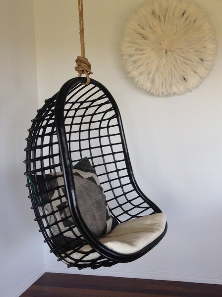 byron bay hanging chair coco black