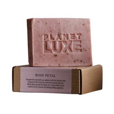 Planet luxe rose petal soap