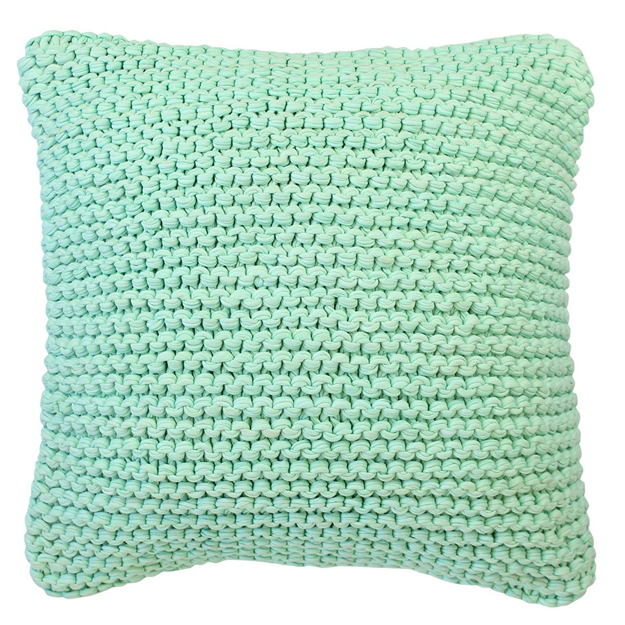 Calm waters cushion aqua 45 x 45