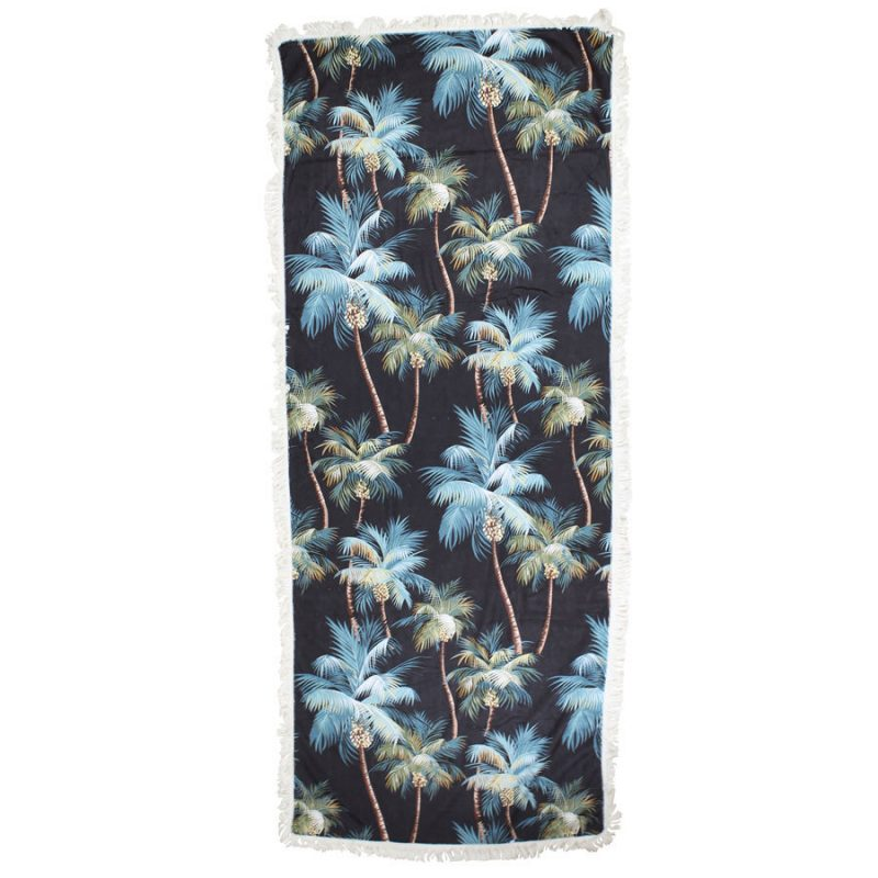 palm tree beach towel black escape to paradise