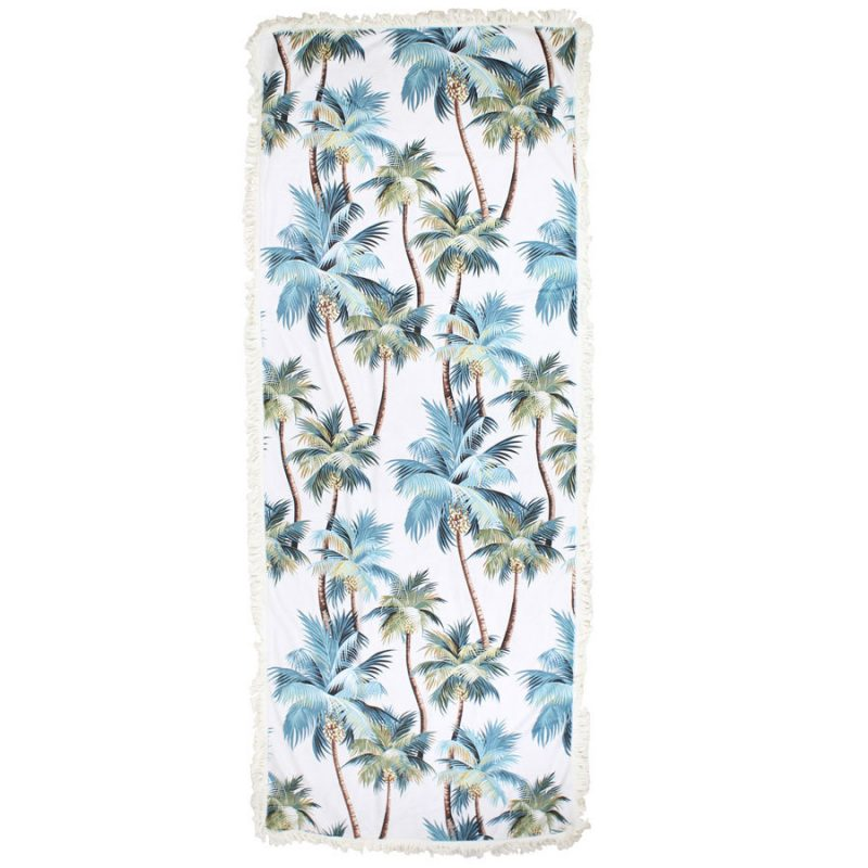 palm trees beach towel rectangle escape to paradise
