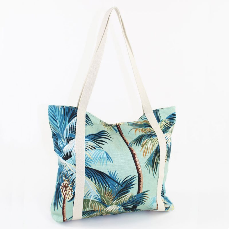palm tree beach bag escape to paradise