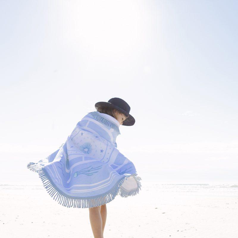 the beach people native kids roundie towel
