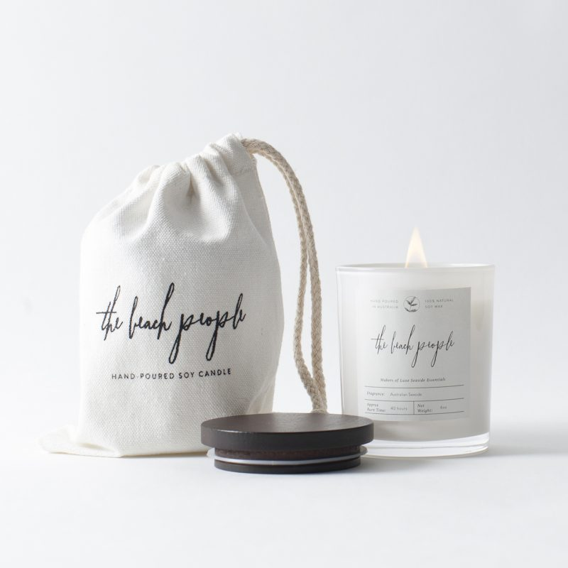 the beach people soy candle