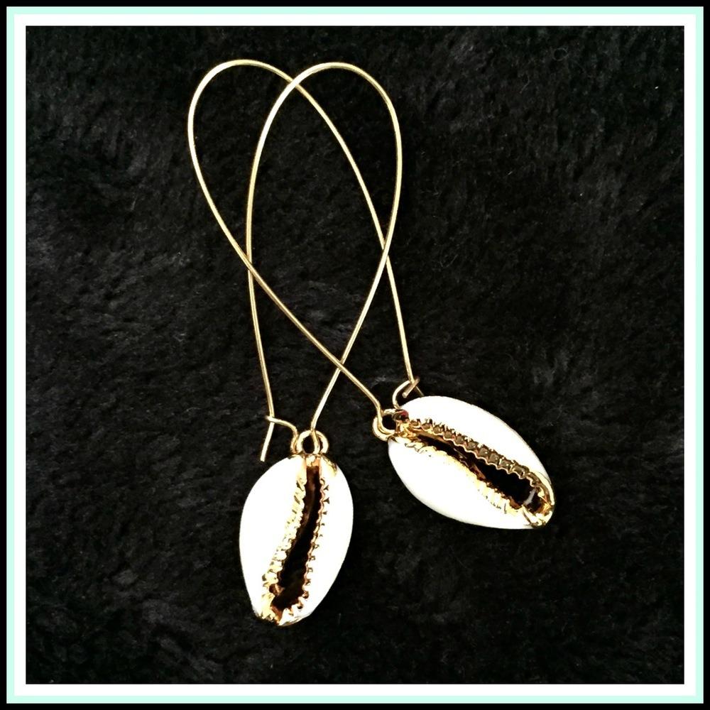 Mermaid Cowrie Shell Earrings